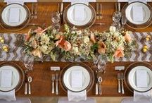 Tablesettings / rehearsal dinner and reception tablesetting ideas