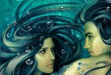 Mermaids and Such... / Pinspiration for an upcoming novella :)