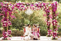 Indian events / Indian Wedding | Mundap | ceremonies | Reception | Centerpieces