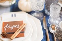 Table settings / Table settings for special events & weddings