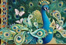 Peacocks & Peafowls / Beauties in nature and art!