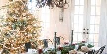 ChriStMaS WiSheS... / decor, shabby, ornaments, vintage, mantels, trees, lights, ideas, stockings, white