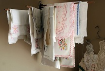 Linens / Vintage hankies and doilies and dresser scarves... oh, my!