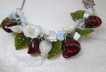 Lampwork necklaces / Lampwork beads by Sandra C.