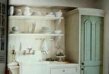 KitCheN PaNtrY... / cabinets, sinks, designs, decor, all things kitchen, pantry, china, plates, dishes, silverware, dining, tables, chairs