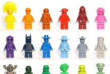 Lego love / All LEGO men are created equal (1.5625 inches tall). What they become is limited only by imagination.