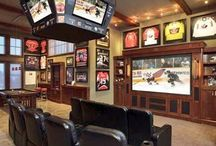 Basement makeover and Ron's man cave ideas / Ideas or he only wishes! / by Kali Lester