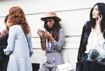 STREET STYLE / The sidewalks acts as a runway for these stylish women spotted on the street.