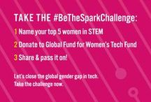 #BeTheSpark / Here we'll pin amazing content from IGNITE: Women Fueling Science and Technology a new global campaign and media project from Global Fund for Women that explores the roles of science and technology in advancing gender equality. IGNITE features stories of women and girls who are leading and innovating in science, technology, engineering, and math. The project also highlights the gender gap in technology and advocates for women and girls' increased access to and control of technologies.