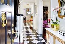 HALLWAYS AND ENTRYWAYS / Chic hallways, stairwells and entryways.