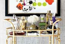 BAR CARTS / How to style a bar cart for maximum impact...