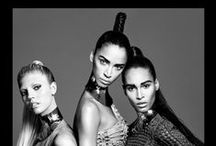 Balmain Hair Couture Spring Summer 2016 Campaign / Balmain Paris Hair Couture presents the Spring/Summer 2016 Campaign starring Balmain muses Noémie Lenoir, Cindy Bruna and Devon Windsor. Under creative direction of Hair Master Nabil Harlow.  Photographer Terry Tsiolis, Designer Olivier Rousteign for Balmain Paris, Make up Frankie Boyd, Manicurist Dawn Sterling, Producer Victoria Pavon for PavonNYC.