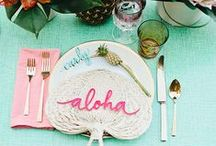 TABLE SETTINGS / Entertain in style with a chic table setting inspired by these dinner parties.
