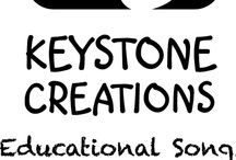 KEYSTONE CREATIONS ~ Educational Songs / We are experienced educators who write curriculum-aligned songs & lesson materials that integrate learning across key subject areas. There really is 'A Lesson in Every Lyric'®    **FYI: Our curriculum-aligned songs are DOWNLOADABLE. *DETAILS: www.KeystoneCreations.com.au