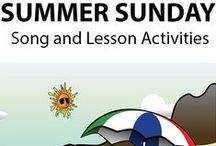 SUMMER SUNDAY ~ Educational Song / 'SUMMER SUNDAY' (Pre K-3) is a curriculum-aligned song highlighting sun and surf  safety, as well as some of the features, creatures and activities, in a  beach environment.  *DOWNLOADABLE MP3 SONG PACKAGE:  http://www.teachinabox.com.au/iteminfo.aspx?itemid=345#productInfo