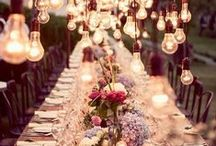 Wedding Table Decor / A gorgeous table scape can change the entire look and feel of your wedding. Simply adding a table linen, sprucing up the centerpiece, or even adding a darling wedding favor can change your design dramatically.