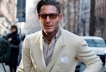Men's Fashion: Sprezzatura Style / Sprezzatura is a men's style of dressing with a nonchalant attitude, unstudied apparel, carefree, 'artful dishevelment', clothing rebellion. The key concept of Sprezzatura is always: men's outfits should never look too perfect.