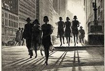 Etchings & Drawings - Town & Cityscapes / by Margie Manifold