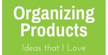 Organizing - Products / As a professional organizer, I don't like people to BUY a lot of organizing products but when I see something that can be useful in some circumstances I pin it here!