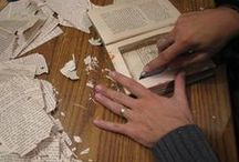 Book-Inspired Crafts / Librarian-approved crafts and DIY ideas for book lovers. (Just remember not to do this with your Library books.)