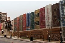Repinning Our Parking Garage / This board is dedicated to the people around the world who have kindly pinned our Community Bookshelf (aka Parking Garage). http://www.kclibrary.org/community-bookshelf / by Kansas City Public Library