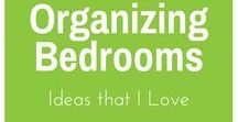 Organizing Bedrooms / Ideas for organizing bedrooms