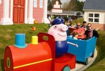 Paultons Guide for Toddlers (Children under 1 metre) / Children under 1 metre are admitted Free to Paultons Park and Peppa Pig World. See what rides and attractions there are for them to enjoy on this pin board.   (A selected number of rides & attractions are closed during November and December for maintenance. The water splash parks are seasonal).