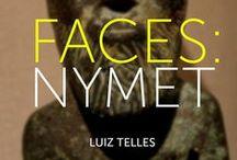 FACES: NYMET / Tenho um trabalho que envolve faces, mitologias e jornada do herói. Tenho colecionado imagens. Essas são algumas delas I have a work that involves faces, mythologies and the hero's journey. I have been collecting images. These are some of them.