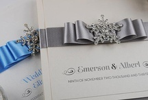 Winter Weddings / Frosty winter weddings... icy blues, crisp silvers and lots of sparkle!