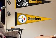 Pittsburgh Steelers|Kids DIY Bedroom Decor For Boys + Girls | Fathead Wall Decals| Wall Murals / Kids DIY Bedroom Decor For Boys + Girls | Fathead Wall Decals| Wall Murals | Peel + Stick | Your home for all things Pittsburgh Steelers. From nursery ideas, man cave inspiration, to game day fashion! Amp up your home with Pittsburgh Steelers wall decals! Fathead offers high-quality, DIY, removable, reusable, easy to apply, wall decals for kids' bedrooms. Custom, personalized and sports decals for home décor. SHOP our products at http://www.fathead.com/nfl/pittsburgh-steelers/ / by Fathead Wall Decals|Custom Decals | Quotes | Wall Murals |  DIY Removable Kids Bedroom Home Decor