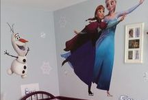 Wall Decals DISNEY FROZEN Bedroom Ideas | Fathead DIY Custom Decals | Wall Murals | New Baby / Disney Frozen Bedroom Ideas | Fathead DIY Wall Decals|Custom Decals | Wall Murals | New Baby | There is no better way to elicit screams of excitement than a Frozen Fathead wall decal featuring: Snow Queen Elsa, Olaf and more! Frozen Fathead wall decals are vibrant images of favorite characters and, unlike a poster, Fathead wall decals are movable and reusable without damaging walls. SHOP http://www.fathead.com/disney/frozen/ / by Fathead Wall Decals|Custom Decals | Quotes | Wall Murals |  DIY Removable Kids Bedroom Home Decor