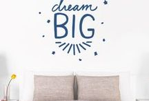 Wall Decals INSPIRATIONAL Quotes / Wall Decals Inspirational Quotes + Words   Vinyl wall decals are tougher than wall stickers and wall art because they're made from the same high-quality material as our reusable products, so you'll also have bright, vibrant inspirational quotes wall decals that add your personality to your home. If you're a new homeowner or looking to add some flare with a renovation, Fathead's wall art decals provide an easy decorating solution to any room! Find the best inspirational quotes and words decals!  / by Fathead Wall Decals Custom Decals   Quotes   Wall Murals    DIY Removable Kids Bedroom Home Decor