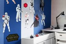 STAR WARS Bedroom Ideas for Boys + Kids | Home Decor | Teen | Man Cave | Baby + Toddler Room / DIY Star Wars Bedroom Ideas for Boys + Kids | Home Decor | Teen | Man Cave | Baby + Toddler Room | Bring the Force into any room with Star Wars removable wall decals, murals and other wall art graphics from Fathead. Our Star Wars vinyl decals capture the energy and spirit you want. Release your inner Star Wars geek! SHOP http://www.fathead.com/star-wars/ / by Fathead Wall Decals|Custom Decals | Quotes | Wall Murals |  DIY Removable Kids Bedroom Home Decor