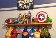 DIY SUPERHERO Bedroom Ideas for Boys + Girls + Toddler | Batman v Superman / DIY Superhero Bedroom Ideas for Boys + Girls + Toddler | Batman v Superman | Every kid at some point or another loves the idea of being a superhero.  If your kids dream of fighting crime and saving the day, these superhero bedroom ideas might be just what you need to turn their plain old bedroom into a superhero's HQ. Fathead's vinyl wall decals and murals are a quick way to spruce up any boy or girls bedroom and these superhero comic ones are no exception. SHOP http://www.fathead.com/heroes/