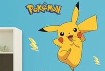 Pokémon Bedroom Decor + Ideas / For anyone looking for a Pokémon poster, welcome to the Pokemon wall decals from Fathead. There's a world of difference. Posters, frankly, are dull. They just don't hold up and they mess with your walls – tape, tacks, putty, rips – why bother! Putting up your wall decals of these Pokémon is so much easier because all you have to do is peel and stick, and they're removable and reusable without harming your walls — try that with Pokémon stickers. Bring Pokémon GO to life with Fathead!