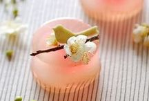Japanese sweets / Japanese sweets (Wagashi).  Most of them are inspired from Japanese traditional natural scenes. / by Takeo Kunishima