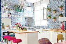 Bold + Colourful Kitchens! / Bold Colours + Design!
