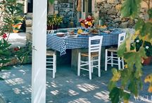Al Fresco / Outdoor dining, ambiance, gemutlecheit, cosy-cosy. Whats the Italian word for it? / by Judy Harris