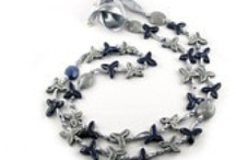 Fog in the Sky / A selection from the wonderful #Etsy #Treasury that includes the EDERA (blue and grey) necklace made by Le Ceramiche di Ro.