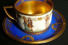 CUPS & SAUCERS, CHOCOLATE & TEA POTS, PITCHERS, ETC. / by MARIETA FRASCO