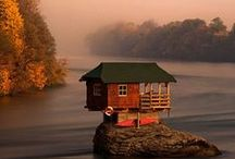 Red Cabin / Cabin Decor / by Kevin Crane