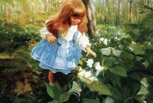 ART  ( children ) / Painting of children / by MARIETA FRASCO