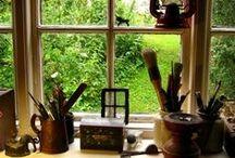 Studios / Studio design. Warmth and music and quietness and comfort.