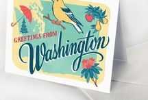Washington State Welcome Bags / Custom welcome bags and locally inspired gifts to go in them for Washington weddings.  Small batch, USA made gifts for Washington welcome bags.