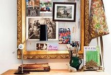 Feminine Office / Office design ideas. Girly office. Feminine office. Home office decor.