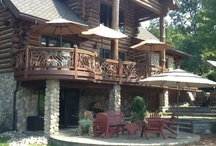Best Log Home Deck Railing