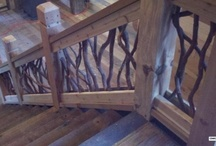 Grand Stair Railing in Alabama Lake House