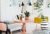 Colorful Spaces / Color inspiration for the home.