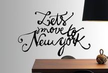 NYC perks / Soon I'll be moving to the city of my dreams for a couple of years, so I want to make the most out my stay! I want my house to say NY all over the walls, so here are some cool stuff I'd like to buy! / by Michelle Poler