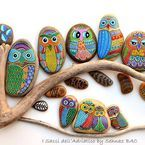 Traveler Craft / sometimes the Travelers painted their whimsical designs on stones like these